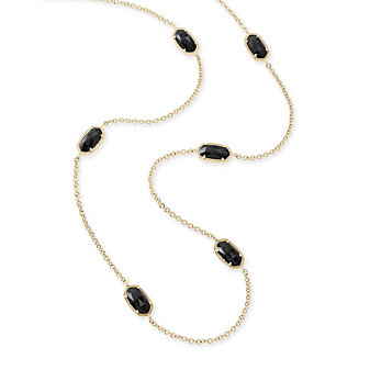 Kendra Scott Kellie Gold and Black Necklace