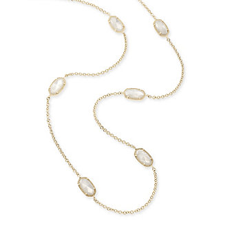 Kendra Scott Kellie Gold and Ivory Mother of Pearl Necklace