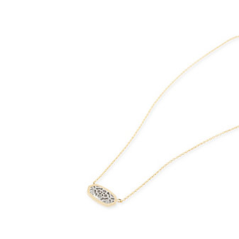 Kendra Scott Elisa/Brie Gold and Rhodium Filigree Mix Necklace