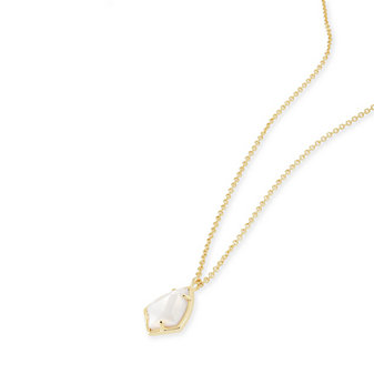 Kendra Scott Cory Gold and Ivory Mother of Pearl Necklace