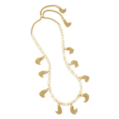 kendra scott vanina long necklace in ivory pearl