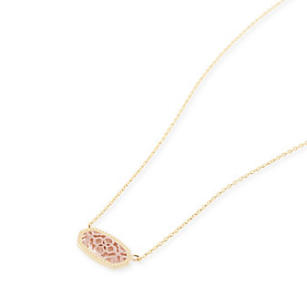 kendra scott elisa/brie pendant necklace in rose gold filigree