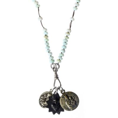miracle icons peruvian opal rosary necklace