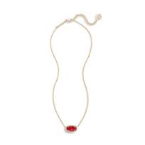 "kendra_scott_elisa_clear_berry_glass_brass_necklace,_15""________________"