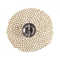 Chilewich_Dahlia_Floral_Placemat,_Brass