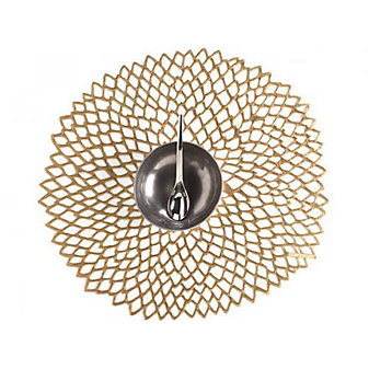 Chilewich Dahlia Floral Placemat, Brass