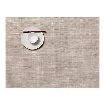 Chilewich Mini Basketweave 14x19 Placemat, Parchment