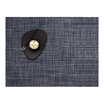Chilewich Basketweave 14x19 Placemat, Denim