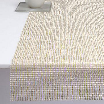 Chilewich Lattice 14x72 Table Runner, Gold