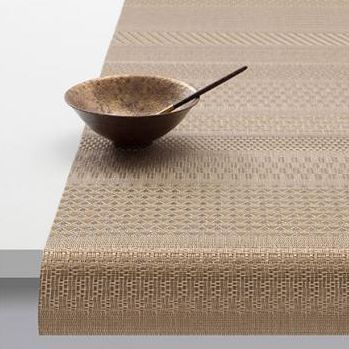 Chilewich Mixed Weave Luxe 14x72 Table Runner, Gold
