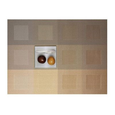 Chilewich Engineered Square 14x19 Placemat, Gold