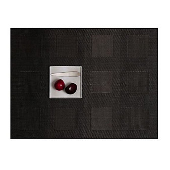 Chilewich Engineered Square 14x19 Placemat, Steel