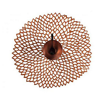 Chilewich Dahlia Floral Placemat, Rose Gold
