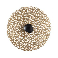 Chilewich_Pebble_Round_Placemat,_Brass