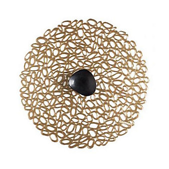 Chilewich Pebble Round Placemat, Brass