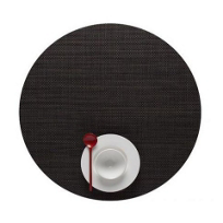 Chilewich_Mini_Basketweave_Round_Placemat,_Espresso