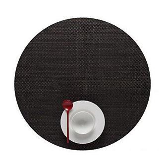 Chilewich Mini Basketweave Round Placemat, Espresso