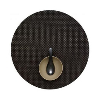 Chilewich_Basketweave_Round_Placemat,_Chestnut