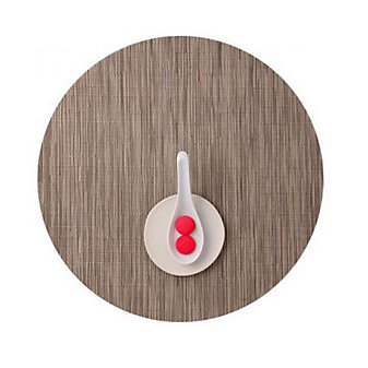 Chilewich Bamboo Round Placemat, Dune