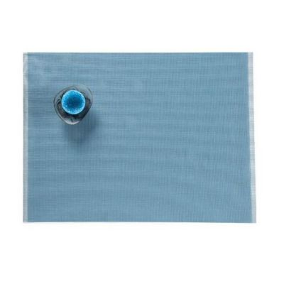 CHILEWICH FRINGE TABLE MAT 13X17.5 BLUE