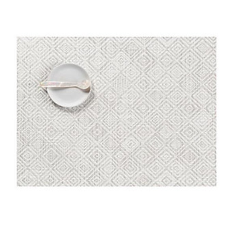 CHILEWICH MOSAIC TABLE MAT 14X19 GREY