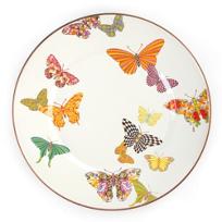 MacKenzie-Childs_Butterfly_Garden_White_Dinner_Plate