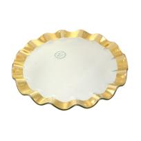 Annieglass_Gold_Ruffle_Buffet_Plate