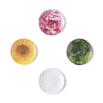 Kate Spade Patio Floral Melamine Tidbit Plate Set