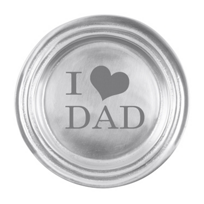 "Mariposa_I_""Heart""_Dad_Classic_Wine_Plate"