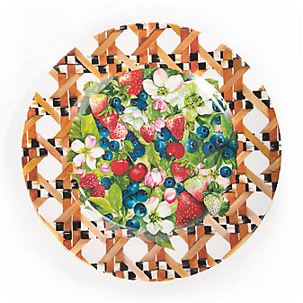 MacKenzie-Childs Berries & Blossoms Buffet Plates - Set of 4