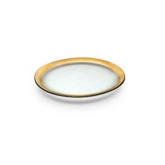 Annieglass Roman Antique Dinner Plate