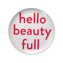Sugarboo_Designs_Hello_Beautiful_Plate,_Set_of_4