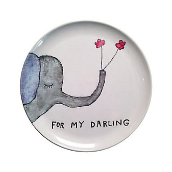Sugarboo Designs For My Darling Plate, Set of 4