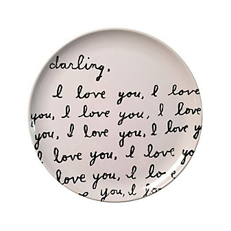 Sugarboo Designs Darling I Love You Plate, Set of 4