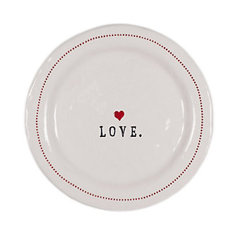 "HONESTLY GOODS LOVE WITH HEARTS 6"" PLATE"