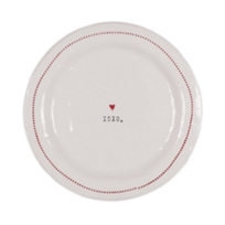 "HONESTLY_GOODS_XOXO_WITH_HEART_6""_PLATE"