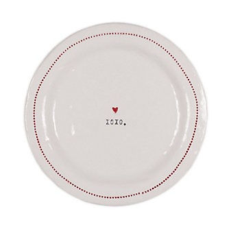 """HONESTLY GOODS XOXO WITH HEART 6"""" PLATE"""