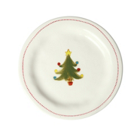 "honestly_goods_6""_round_christmas_tree_plate"