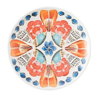 Juliska Al Fresco Oceanica Melamine Multi/White Dessert/Salad Plate