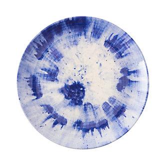 Juliska Al Fresco Splatter and Spin Melamine Indigo Dinner Plate