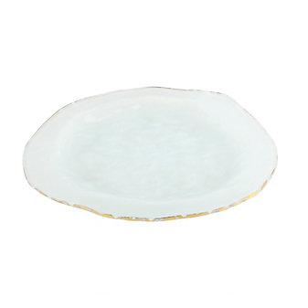Annieglass Roman Antique Gold Dinner Plate