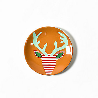 coton colors reindeer salad plate