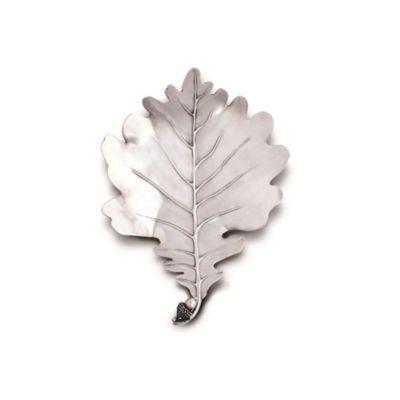 vagabond house pewter white oak leaf plates