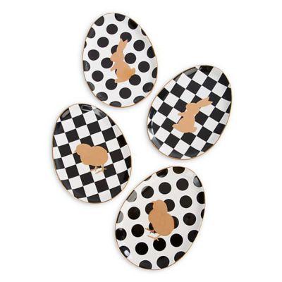 Mackenzie-Childs Easter Egg Plates Set of 4