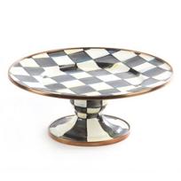 MacKenzie-Childs_Courtly_Check_Pedestal_Platter_-_Mini