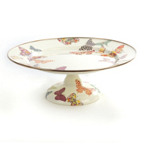 MacKenzie-Childs_Butterfly_Garden_White_Small_Pedestal_Platter_