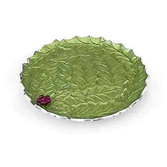 "Julia Knight Mojito Holly Sprig Round Platter, 13"""