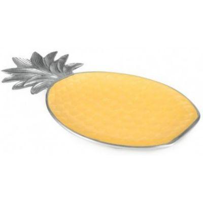 "Julia Knight Saffron Pineapple Platter, 15.75"""