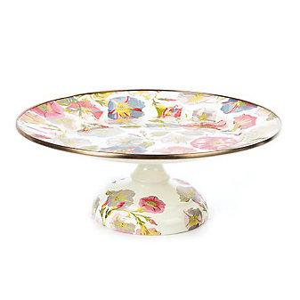 MacKenzie-Childs Morning Glory Pedestal Platter - Small