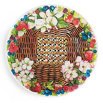 MacKenzie-Childs Berries & Blossoms Serving Platter
